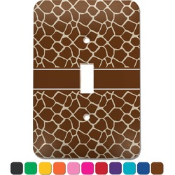 Giraffe Print Light Switch Cover (Single Toggle) (Personalized)