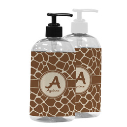 Giraffe Print Plastic Soap / Lotion Dispenser (Personalized)