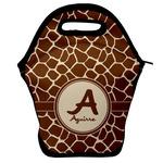 Giraffe Print Lunch Bag w/ Name and Initial