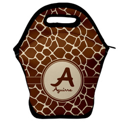 Giraffe Print Lunch Bag w/ Name and Initial