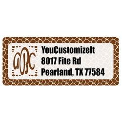 Giraffe Print Return Address Labels (Personalized)