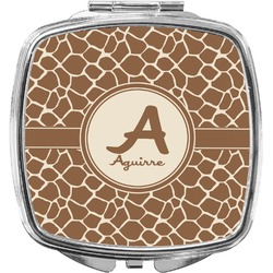 Giraffe Print Compact Makeup Mirror (Personalized)