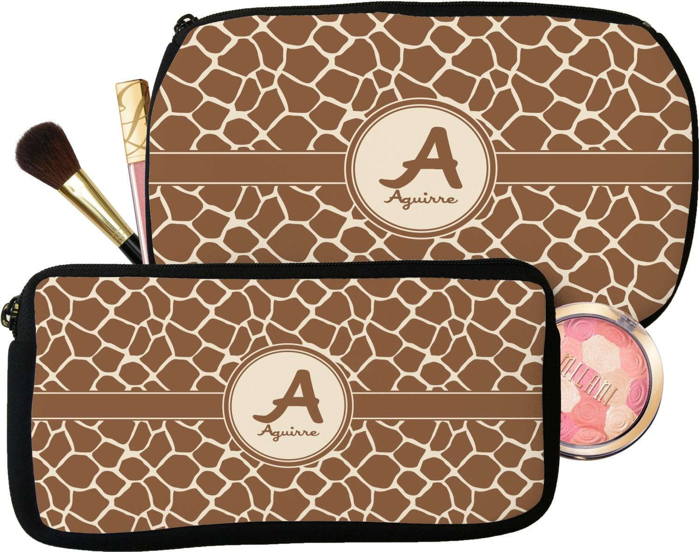 Giraffe Print Makeup Cosmetic Bag Personalized