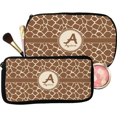 Giraffe Print Makeup / Cosmetic Bag (Personalized)