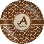 Giraffe Print Melamine Plate (Personalized)
