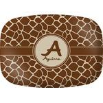Giraffe Print Melamine Platter (Personalized)