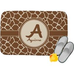 Giraffe Print Memory Foam Bath Mat (Personalized)