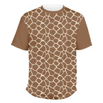 Giraffe Print Men's Crew T-Shirt (Personalized)
