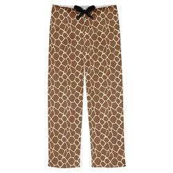 Giraffe Print Mens Pajama Pants (Personalized)