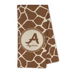 Giraffe Print Microfiber Kitchen Towel (Personalized)