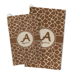 Giraffe Print Microfiber Golf Towel (Personalized)