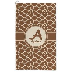 Giraffe Print Microfiber Golf Towel - Large (Personalized)