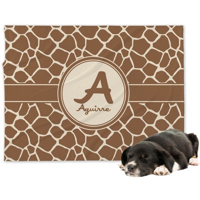 Giraffe Print Dog Blanket (Personalized)