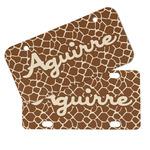 Giraffe Print Mini/Bicycle License Plates (Personalized)