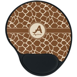 Giraffe Print Mouse Pad with Wrist Support