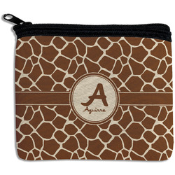 Giraffe Print Rectangular Coin Purse (Personalized)