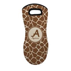 Giraffe Print Neoprene Oven Mitt - Single w/ Name and Initial