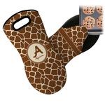 Giraffe Print Neoprene Oven Mitt (Personalized)