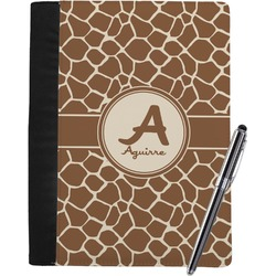 Giraffe Print Notebook Padfolio - Large w/ Name and Initial