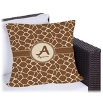 Giraffe Print Outdoor Pillow (Personalized)