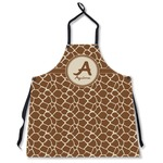 Giraffe Print Apron Without Pockets w/ Name and Initial