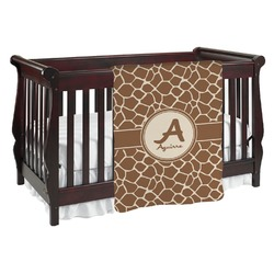 Giraffe Print Baby Blanket (Personalized)