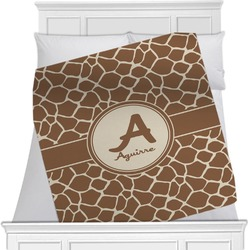"Giraffe Print Fleece Blanket - Twin / Full - 80""x60"" - Single Sided (Personalized)"