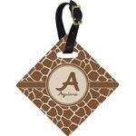 Giraffe Print Diamond Luggage Tag (Personalized)