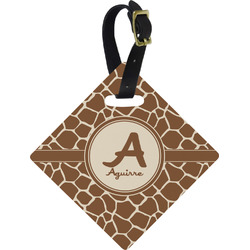 Giraffe Print Diamond Luggage Tag (Personalized)