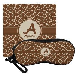 Giraffe Print Eyeglass Case & Cloth (Personalized)
