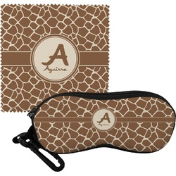 Giraffe Print Eyeglass Case & Cloth (Personalized)