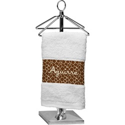 Giraffe Print Cotton Finger Tip Towel (Personalized)
