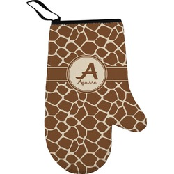 Giraffe Print Right Oven Mitt (Personalized)
