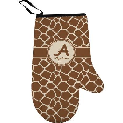 Giraffe Print Oven Mitt (Personalized)