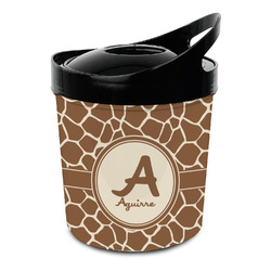 Giraffe Print Plastic Ice Bucket (Personalized)