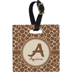Giraffe Print Square Luggage Tag (Personalized)