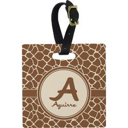 Giraffe Print Square Luggage Tag (Personalized)