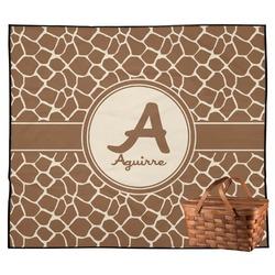 Giraffe Print Outdoor Picnic Blanket (Personalized)