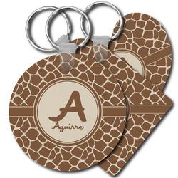 Giraffe Print Plastic Keychains (Personalized)