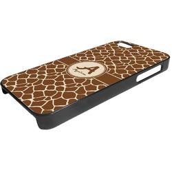 Giraffe Print Plastic iPhone 5/5S Phone Case (Personalized)
