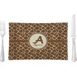 Giraffe Print Glass Rectangular Lunch / Dinner Plate - Single or Set (Personalized)