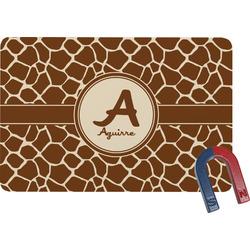Giraffe Print Rectangular Fridge Magnet (Personalized)