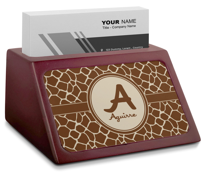 Giraffe Art Pattern Image Business Name Card Holder Case