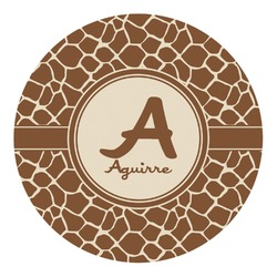 Giraffe Print Round Decal - Custom Size (Personalized)