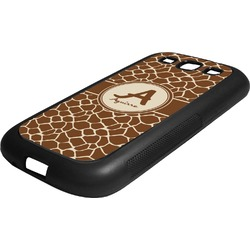 Giraffe Print Rubber Samsung Galaxy 3 Phone Case (Personalized)