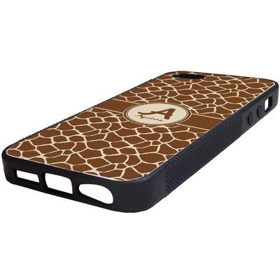 Giraffe Print Rubber iPhone 5/5S Phone Case (Personalized)