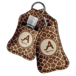 Giraffe Print Hand Sanitizer & Keychain Holder (Personalized)