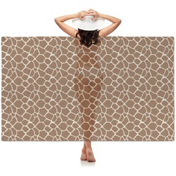 Giraffe Print Sheer Sarong (Personalized)