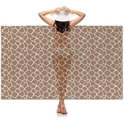 Giraffe Print Sheer Sarong (Personalized)