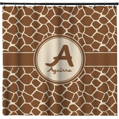 Giraffe Print Shower Curtain (Personalized)